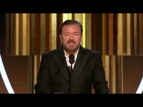 Ricky Gervais Slams Hollywood Elite at 2020 Golden Globes!
