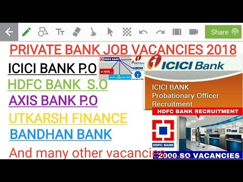 How to Apply Private Bank Job Vacancies 2018.must watch salary 32000+.