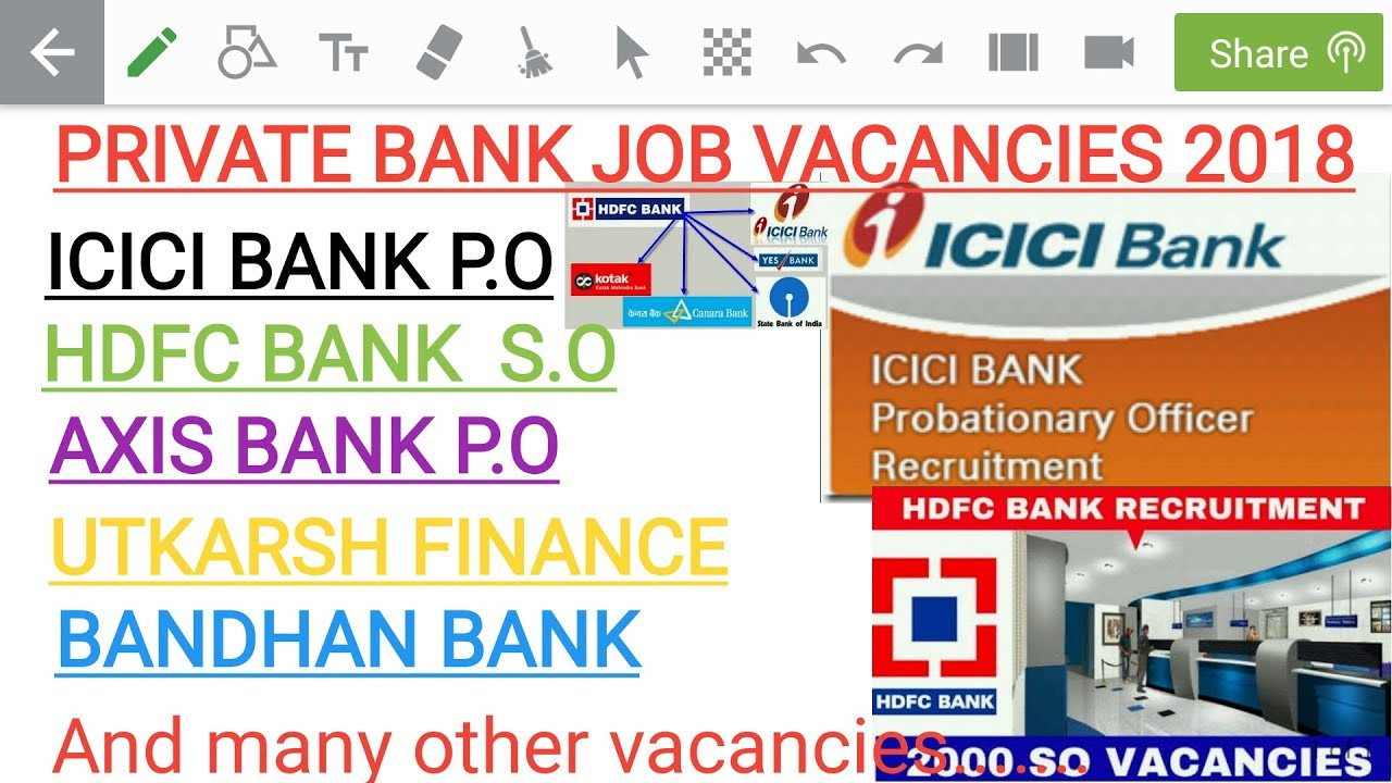 private bank jobs for freshers 2018