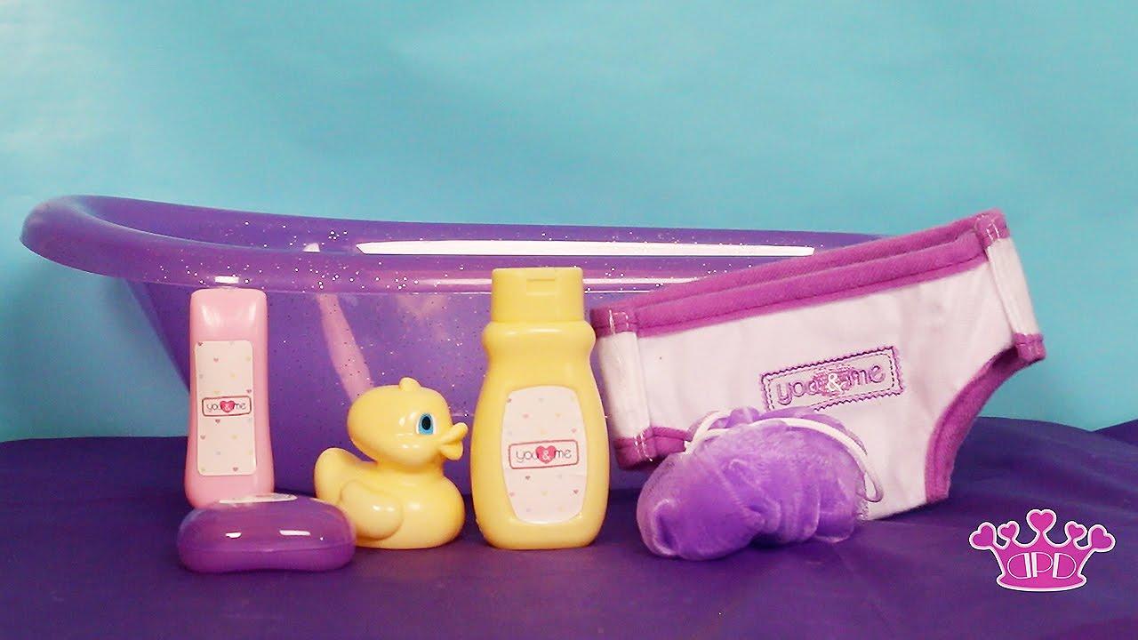 You & Me Baby Bath Tub Play Set Kids Toy Video - YouTube