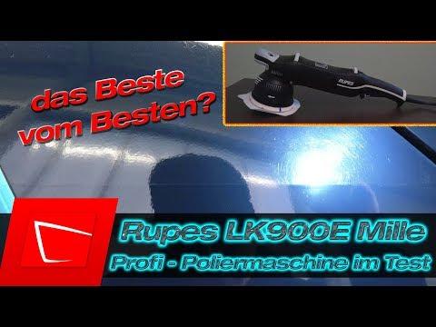 Rupes Bigfoot LK900E MILLE Test - Standard Kit Auto polieren und Kratzer entfernen