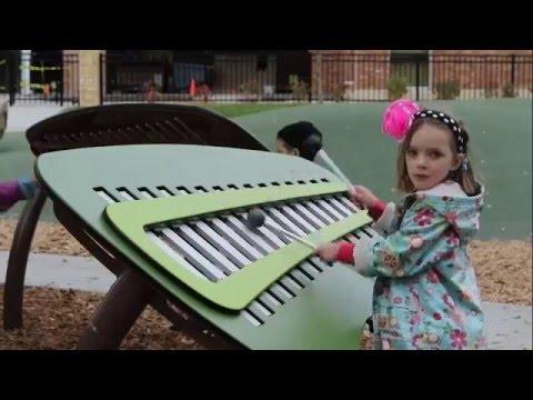 Metalófono Animato™ - Instrumentos musicales al aire libre Rhapsody™ - Microarquitectura