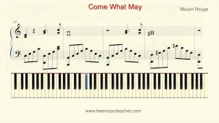 "How To Play Piano: Moulin Rouge ""Come What May"" Piano Tutorial by Ramin Yousefi"