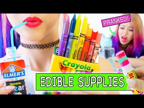 DIY EDIBLE SCHOOL SUPPLIES! 8 Pranks for Back to School NEW VERSION