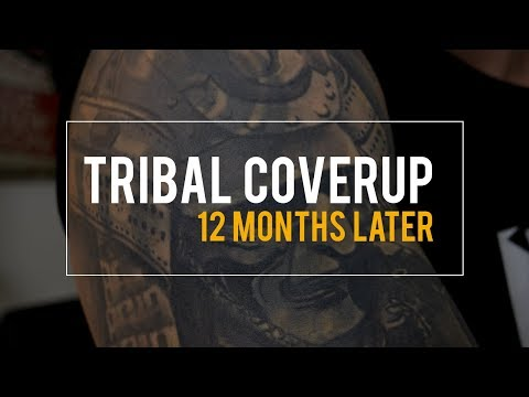 f6516299e Tribal Tattoo Cover Up – How it looks 12 months later - Salvation Tattoo -  YouTube