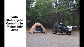 Super Tenere Solo Motorcycle Camping in Maine July 2018