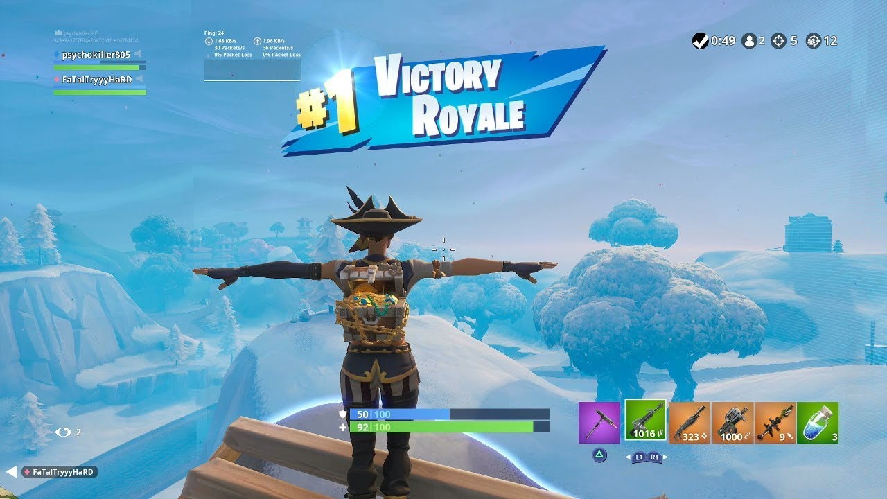 fortnite first win with buccaneer skin gameplay showcase fortnite shop season 8 - what was the first skin released in fortnite