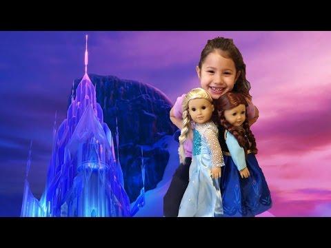 Frozen Elsa And Anna American Girl Doll Costume - Disney Frozen AG Doll