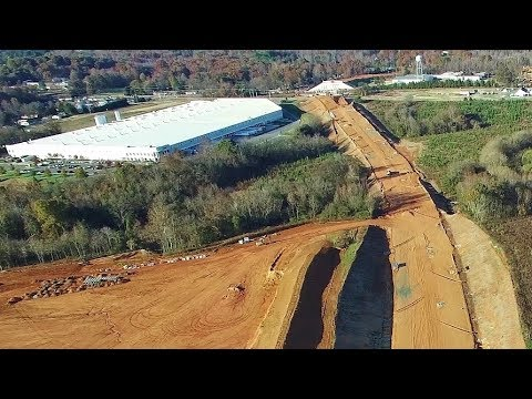 Aerial View Of N.C. 119 South Relocation Project - Mebane, NC