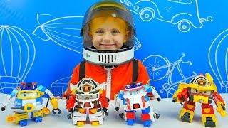 Робокар Поли и Рой Астронавты Трансформеры из мультика про Поли Робокара. #RobocarPoli UNBOXING
