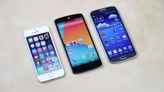 google nexus 5 vs apple iphone 5s vs samsung galaxy s4 benchmark   swagtab