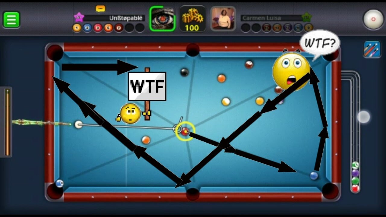 8 Ball Pool- AIMBOT HACK GAMEPLAY|PT.1| UNBELIEVABLE SHOTS ...