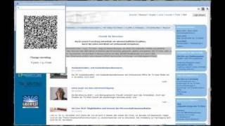 Screencast of Google Chrome QR Plugin