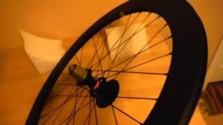 Yoeleo 50/60mm SAT Disc Brake 700x23c Carbon Clincher wheelset - unboxing and installation