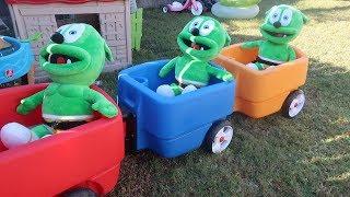 The Wheels on the bus Nursery Rhymes/Gummy Bear ride on Wagon