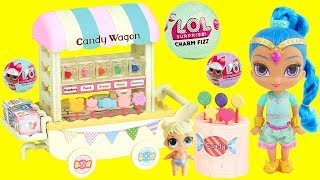 LOL Surprise Dolls Shimmer and Shine Candy Color Changing with Charm Fizz Fizzy Bomb Balls Routine