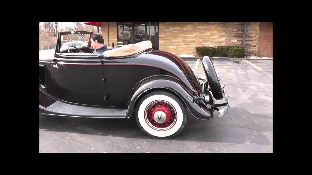 1934 Ford Model 40b Deluxe Rumble Seat Cabriolet Youtube