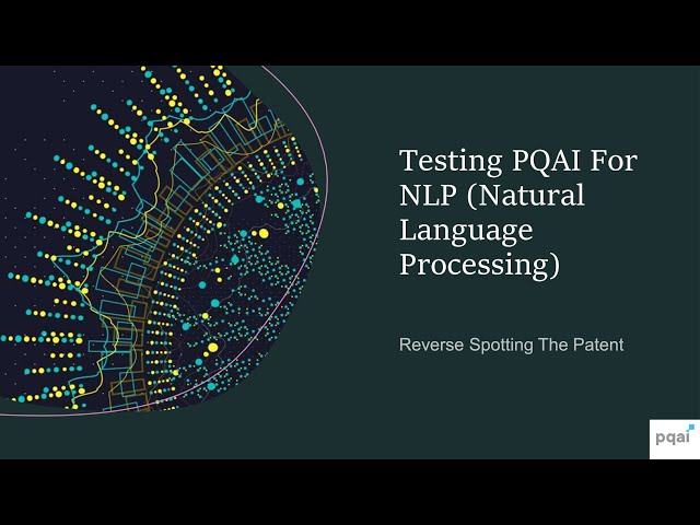 Inviting NLP Practitioners To Collaborate On PQAI | An NLP Based Prior Art Search Engine