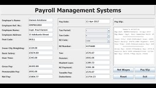 How to create payroll management systems in eclipse using if statement, and various events.