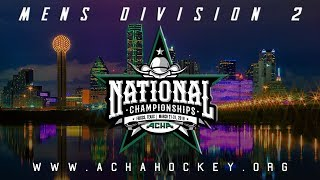 2019 ACHA Men's D2 National Championships Semifinals (Game 25): UMASS (A) vs. NORTHEASTERN (C)