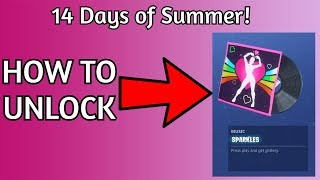 HOW TO UNLOCK THE *FREE Sparkles Music Pack | 14 days of Summer Fortnite Guide