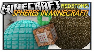 HOW TO MAKE SPHERES IN VANILLA MINECRAFT! 1.8 Minecraft Redstone Trick