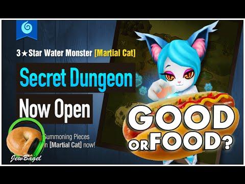 SUMMONERS WAR : Mina the Water Martial Cat secret dungeon - Good or Food?