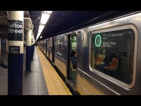 IRT Lexington Avenue Line: Downtown & Bronx Bound R62A & R142/A (4) (5) (6) Trains @ Fulton Street