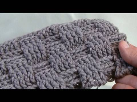 Crochet Stitches Basket : How To Crochet A Basket Weave Stitch: Left Handed - YouTube