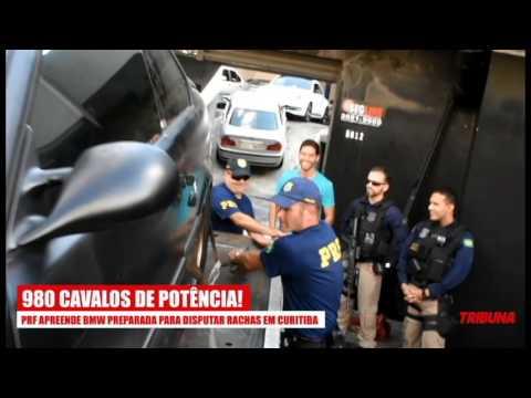 PRF apreende BMW preparada para disputar rachas em Curitiba