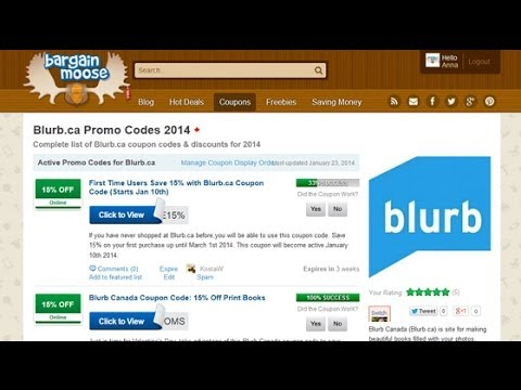 blurb coupons codes
