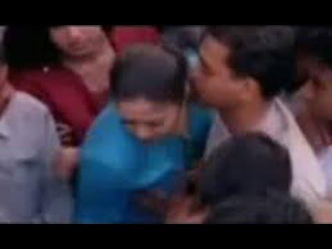 Jyothika boob squeeze