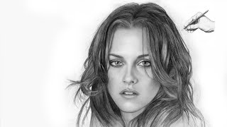 KRISTEN STEWART   ✎ PORTRAIT ZEICHNUNG   Speed Drawing Bella Swan Twilight zeichnen lernen