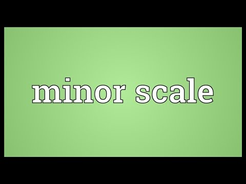 Minor scale Meaning
