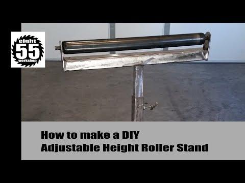 Adj  Height Roller Stand - DIY