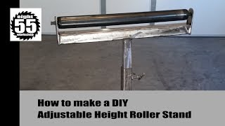 Adj Height Roller Stand - DIY