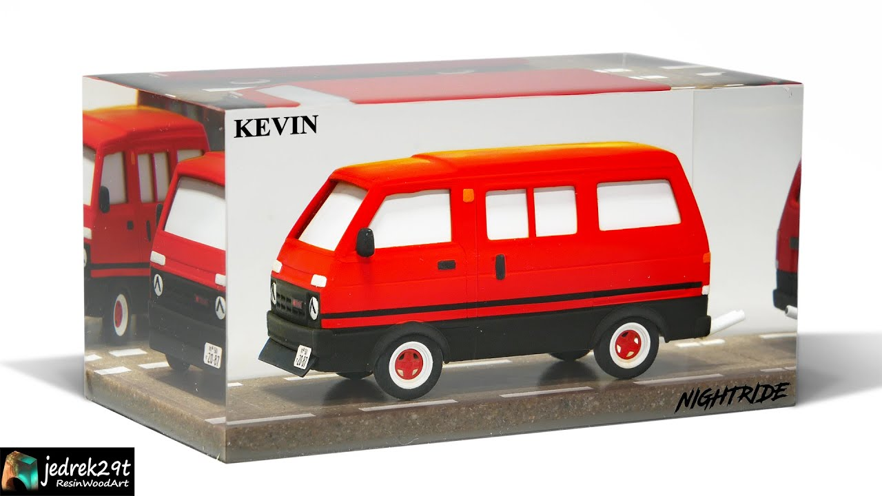 Car in Epoxy Resin / Kevin From @NIGHTRIDE / RESIN ART