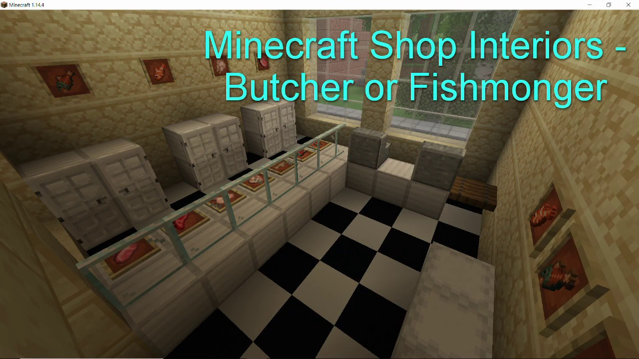 Minecraft Shop Interiors Butcher Or Fishmonger Youtube