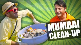 MUMBAI beach clean-up with Afroz Shah #TrashTag Challenge