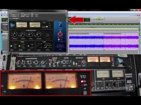 API 2500 Compressor Hardware vs Plugin comparison - Stereo Acoustic Guitar & Mix best settings