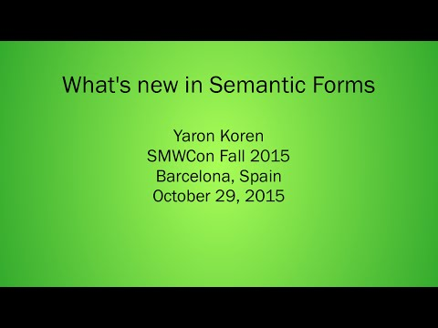 02 - What's new in Semantic Forms