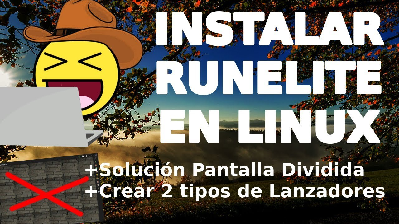 Install RuneLite on Linux + Solution Split Screen + Create 2 Types of Linux  Launchers (2019)