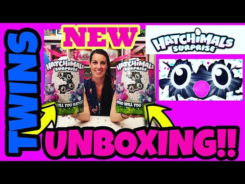 NEW HATCHIMALS SURPRISE TWINS Hatching HATCHIMAL PEACAT GIRAVEN  Top Toy Christmas 2017
