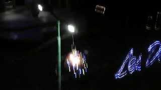 RODY DRONE X5C volando De noche en la plaza de Cd  Delicias Chih  02