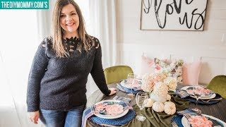 Elegant Round Tablescape for Fall | $5 Goodwill Challenge