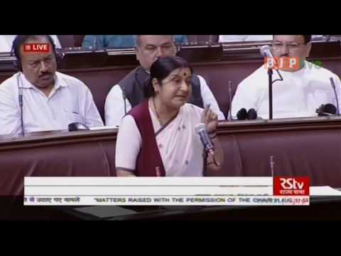 Adequate food has been provided to all Indian workers in Saudi Arabia: EAM Smt. Sushma Swaraj in RS