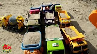 Mainan Mobil Truk - Bermain Truk Excavator Besar & Dump Truck Pengangkut Pasir di Sungai