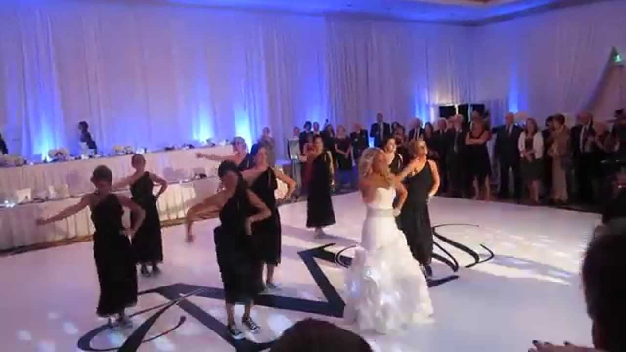 surprise wedding party dance