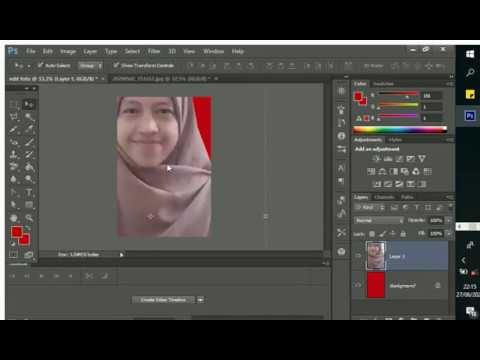 cara edit foto ukuran 2x3 cm pada photoshop cs6 - YouTube