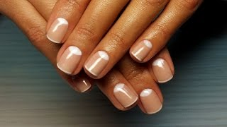 Дизайн ногтей гель-лак shellac - Лунный маникюр + френч (видео уроки дизайна ногтей)